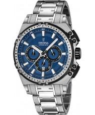 Festina F16968-2 Mens Chrono Bike Silver Steel Chronograph Watch