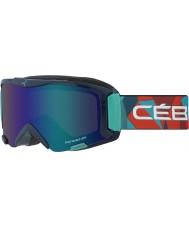 Cebe CBG116 Super Bionic Blue Rainbow - Brown Flash Blue Ski Goggles