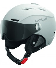 Bolle 31255 Backline Visor Soft White and Silver Ski Helmet with Grey Visor - 56-58cm