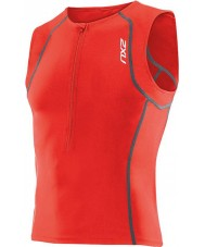 2XU MT2716A-NRD-M Mens Active Neon Red Tri Singlet 2014 - Size M