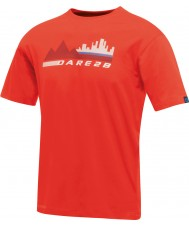 Dare2b Mens City Scene Fiery Red T-Shirt