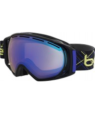 Bolle 21153 Gravity Black and Indigo Laser - Aurora Blue Ski Goggles