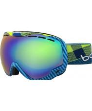 Bolle 21305 Emperor Blue and Green Plaid - Green Emerald Ski Goggles