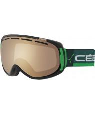 Cebe CBG126 Feel In Black and Green - Brown Flash Mirror Ski Goggles