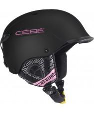 Cebe 1170BP5558 Contest Visor Matte Black Pink Zebra Ski Helmet - 55-58cm