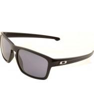 Oakley OO9262-01 Sliver Matte Black - Grey Sunglasses