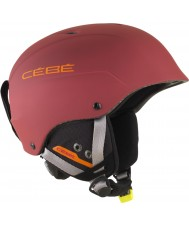 Cebe CBH182 Contest Matte Red Orange Ski Helmet - 58-62cm