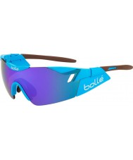 Bolle 6th Sense AG2R Shiny Brown Blue-Violet Sunglasses