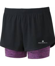 Ronhill Ladies Stride Twin Shorts