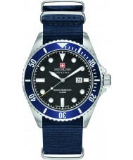 Swiss Military 6-4279-04-007-03 Mens Sea Lion Blue Nylon Strap Watch