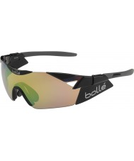 Bolle 6th Sense S Shiny Black Modulator Brown Emerald Sunglasses