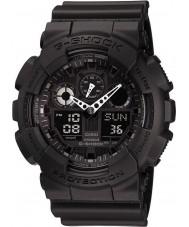 Casio GA-100-1A1ER Mens G-Shock Auto LED Light All Black Watch