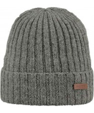 Barts 1998002 Mens Haakon Heather Grey Turnup Beanie