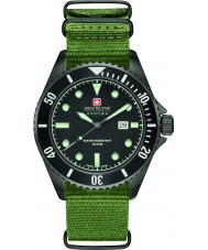 Swiss Military 6-4279-13-007 Mens Sea Lion Green Nylon Strap Watch