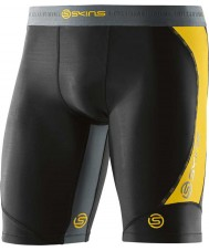 Skins Mens DNAmic Black Half Tights