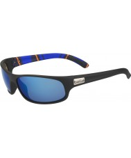 Bolle Anaconda Matte Black Stripes Polarized Offshore Blue Sunglasses