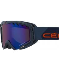 Cebe CBG90 Hurricane L Red and Blue - Brown Flash Blue Ski Goggles