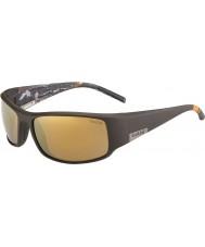 Bolle King Matt Brown Sea Polarized Inland Gold Sunglasses