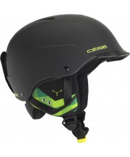 Cebe CBH99 Contest Visor Matte Black and Green Ski Helmet - 55-58cm
