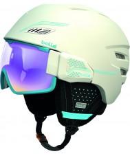 Bolle 30639 Osmoz Soft White and Blue Ski Helmet - 58-61cm