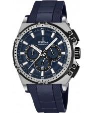 Festina F16970-2 Mens Chrono Bike Blue Rubber Chronograph Watch