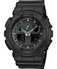 Casio GA-100MB-1AER Mens G-Shock Matt Black Resin Strap Watch