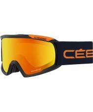 Cebe CBG95 Fanatic L Black and Orange - Orange Flash Fire Ski Goggles