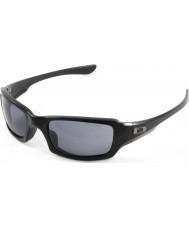 Oakley OO9238-04 Fives Squared Polished Black - Grey Sunglasses