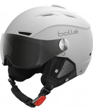 Bolle 21267 Backline Visor Soft White Ski Helmet with Silver Gun Visor - 54-56cm
