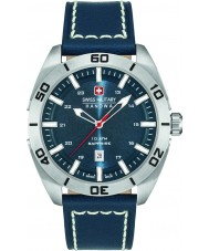 Swiss Military 6-4282-04-003 Mens Champ Blue Leather Strap Watch