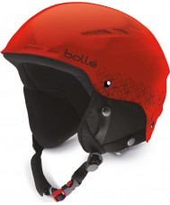 Bolle 30824 B-Rent Junior Shiny Red and Black Ski Helmet - 49-52cm