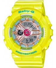 Casio BA-110CA-9AER Ladies Baby-G World Time Yellow Resin Strap Watch