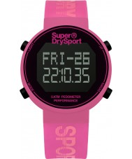 Superdry SYL203P Ladies Digi Pedometer Pink Silicone Strap Watch
