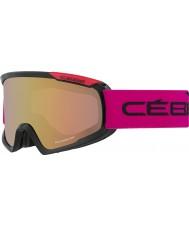 Cebe CBG99 Fanatic M Black and Pink - Light Rose Flash Gold Ski Goggles