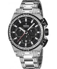 Festina F16968-4 Mens Chrono Bike Silver Steel Chronograph Watch