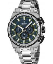Festina F16968-3 Mens Chrono Bike Silver Steel Chronograph Watch
