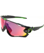 Oakley OO9290-10 Jawbreaker Polished Black - Cavendish Prizm Road Sunglasses
