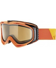 Uvex 5502143021 G.GL 300 Take Off Orange - Polavision Brown Ski Goggles