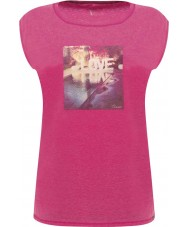 Dare2b DWT327-1Z016L Ladies Restful Electric Pink T-Shirt - Size UK 16 (XL)