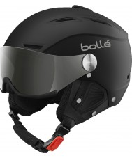 Bolle Backline Visor Soft Black and Silver Ski Helmet
