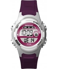 Timex TW5M11100 Ladies Marathon Purple Resin Strap Watch