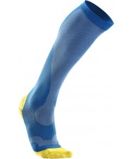 2XU MA2442EVBCYXL Mens PWX Vibrant Blue and Canary Yellow Compression Performance Socks - Size S