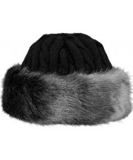 Barts 1630002 Ladies Fur Cable Grey Band Hat