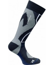 Dare2b DMH305-800S08-9-12 Mens Cocoon Tech Black Ski Sock - Size 9-12
