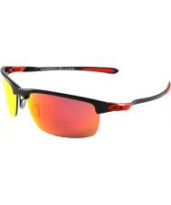 Oakley OO9174-06 Ferrari Carbon Blade Polished Carbon - Ruby Iridium Polarized Sunglasses