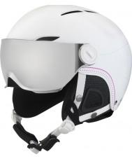 Bolle 31159 Juliet Visor Soft White Ski Helmet with Silver Gun and Lemon Visor - 52-54cm