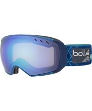 Bolle 21435 Virtuose Blue Iceberg - Aurora Ski Goggles with Spare Lemon Gun Lens