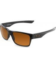 Oakley OO9189-03 TwoFace Polished Black - Dark Bronze Sunglasses