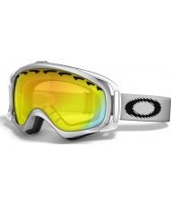 Oakley 02-018 Crowbar Snow Matte White - Fire Iridium Ski Goggles