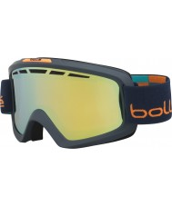 Bolle 21336 Nova II Matte Blue and Orange - Citrus Gold Ski Goggles